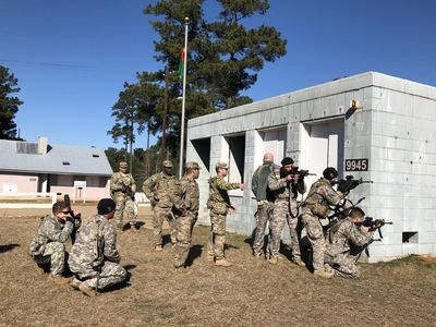 Members Of The Army S 1st Security Assistance Brigade Train At Fort Polk La