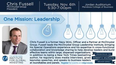 Leadership Speaker: Chris Fussell, former Navy SEAL